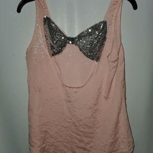 LOVE CULTURE Women's Sleeveless Pink Blouse Back S